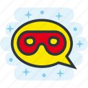 chat, incognito, mask, masked, secret, unknown icon