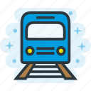 metro, station, train, transport icon