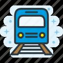 metro, station, train, transport