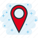 georeferencing, map, pin, place icon