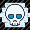 bone, death, head, skull