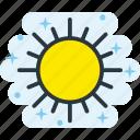 clear, heat, light, sun icon
