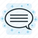 bubble, chat, message, sms, text icon