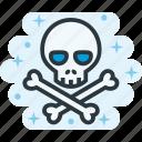 bones, death, poison, skull, toxin, venom icon