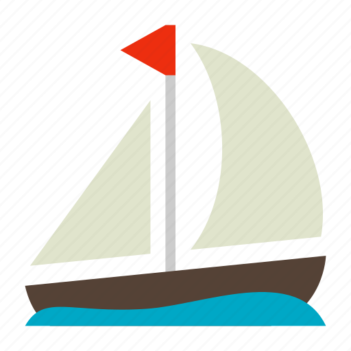 boat, sail, sailboat icon