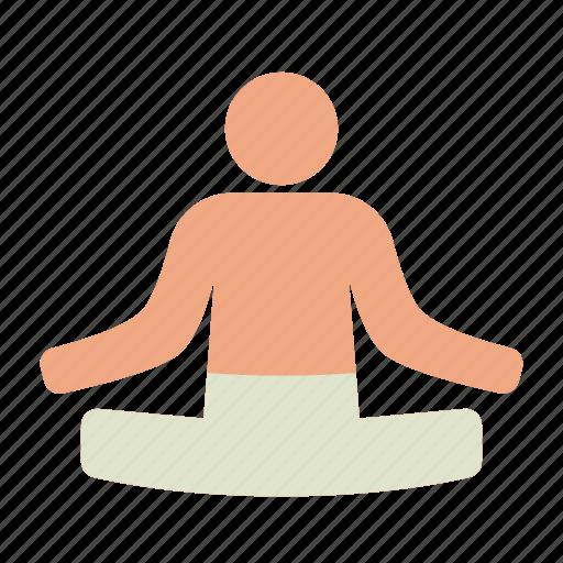 lotus, meditation, position, relaxation, yoga, zen icon