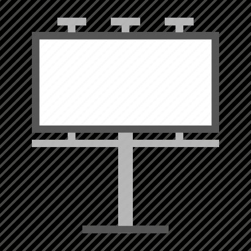 banner, billboard, signboard icon