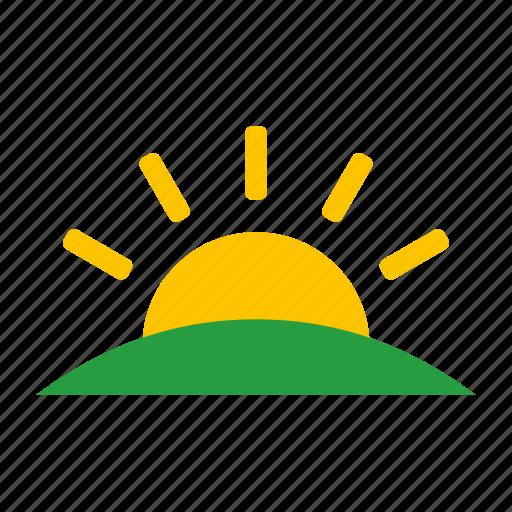 summer, sun, sunny, sunrise, sunset, sunshine icon