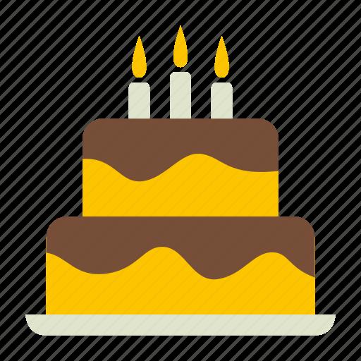 bakery, birthday, cake, dessert, happy, sweet icon