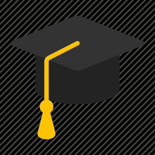 cap, education, graduation, hat, student, university icon