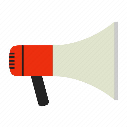 announcement, broadcast, loud, loudspeaker, megaphone, share icon