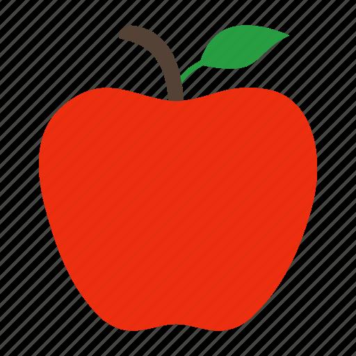 apple, food, fresh, fruit, healthy, vitamin icon