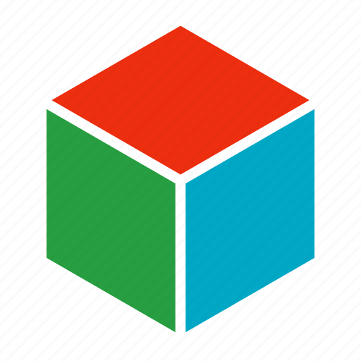 block, container, cube, perspective, polygon icon