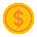 cash, coin, commerce, earnings, finance, money icon