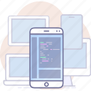 app, development, mobile, program icon