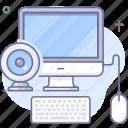 camera, computer, motioner, track icon