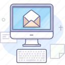 computer, email, keyboard icon