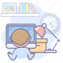computer, office, using, work icon