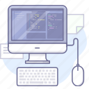 app, computer, development, keyboard, program icon