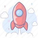 rocket, speed, startup icon
