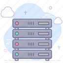 hosting, server, vps, website icon