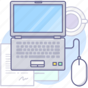 computer, laptop, office icon