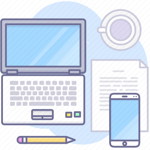 computer, laptop, mobile, work icon