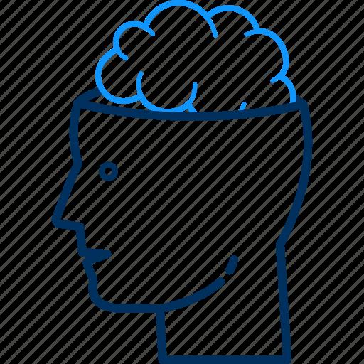 avatar, brain, head, human, mind, people, person icon