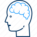 avatar, brain, human, male, mind, person, user icon