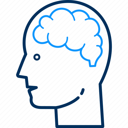 avatar, brain, human, male, mind, person, user icon