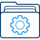 archive, business, document, documents, folder, process, small icon