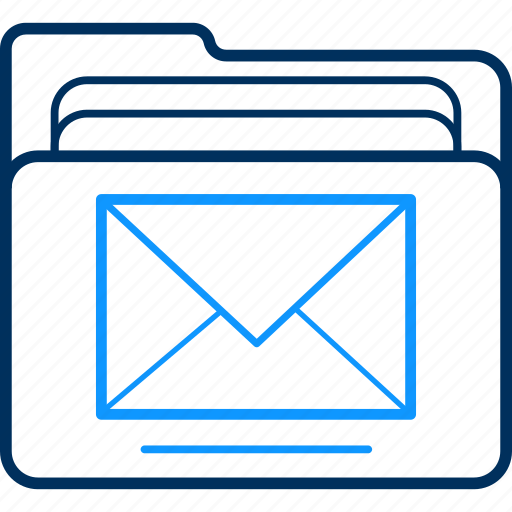 Mail, folder, email, message, paper, document, letter icon