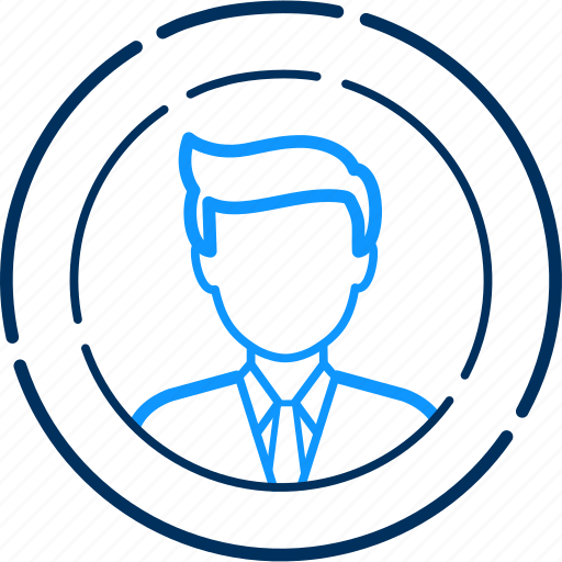 User, business, man, profile, person, finance, people icon