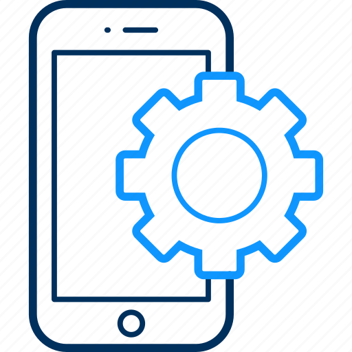device, gear, mobile, setting, settings, smartphone, technology icon