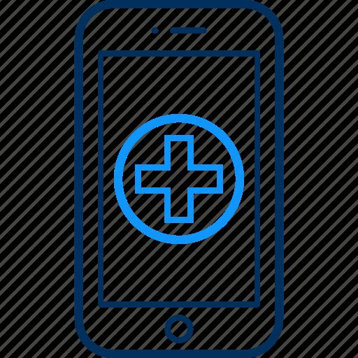 ambulance, communication, device, devices, mobile, phone, smartphone icon