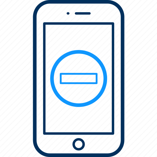 internet, minus, mobile, phone, smartphone, web icon