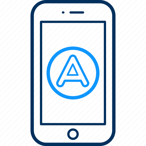Mobile, application, phone, app, smartphone, communication icon