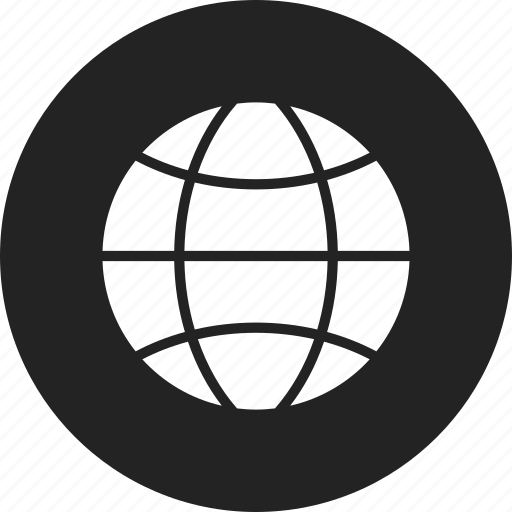 earth, globe, internet icon