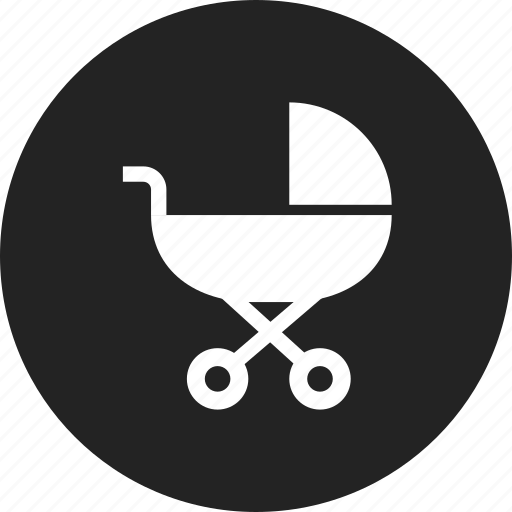 baby, buggy, pram icon