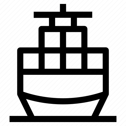 cargo, commerce, export, import, ship, shipment, shipping icon