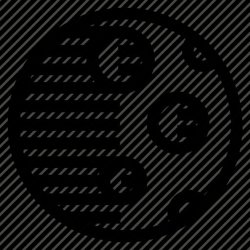 cast, crater, dark, moon, moonlight, shadow, side icon