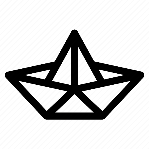 boat, fold, folded, folding, handcraft, origami, paper icon