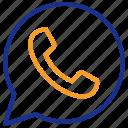 bubble, chat, communication, message, phone, telefon icon