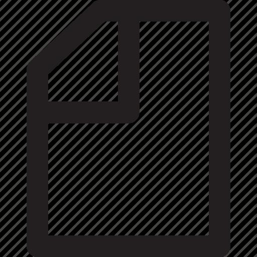 folder, line, outline, paper icon