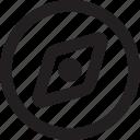 compas, navigation, outline icon