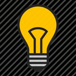 bulb, lamp, light icon