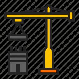 building, constructing, crane icon