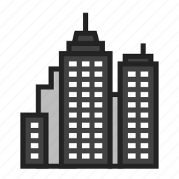 city, downtown, town icon