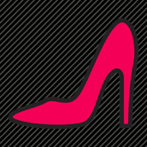 fashion, shoe, woman icon