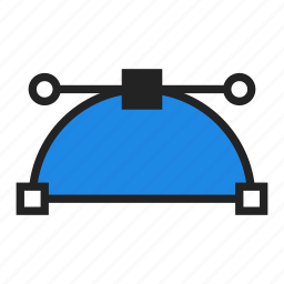 bezier, curve, design icon